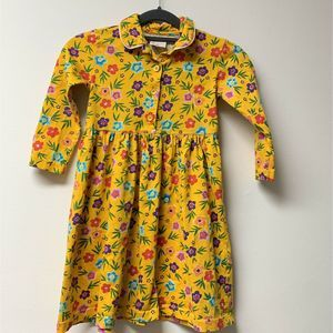 Hanna Andersson 110 5 Yellow Floral Cotton Buttons